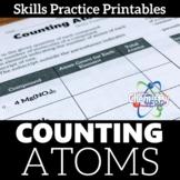 Counting Atoms Skills Practice Printable Worksheet