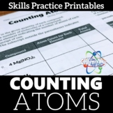 Counting Atoms Skills Practice Printable Worksheet