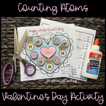 Counting Atoms Valentine's Day Activity