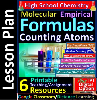 Types of Formulas, Counting Atoms: Essential Skills Lesson & Worksheet #18