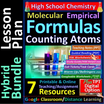Empirical and Molecular Formulas - Worksheets & Practice Questions for Chemistry