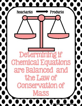 Counting Atoms from Chemical Equations and the Law of Conservation of Mass