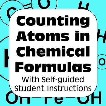 Counting Atoms in Chemical Formulas