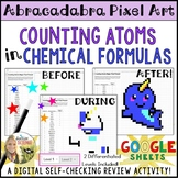 Counting Atoms in Chemical Formulas Pixel Art Digital Review