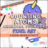 Counting Atoms in Chemical Formulas Pixel Art Digital Revi