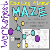 Counting Atoms in Chemical Formulas Maze Worksheet for Rev