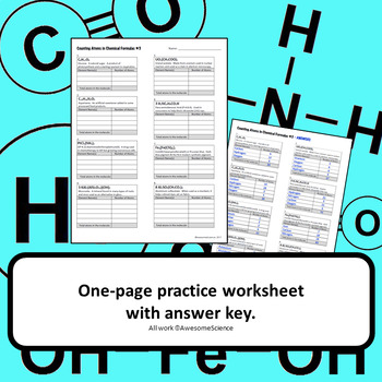 Counting Atoms in Chemical Formulas: Supplementary Practice #3