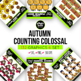 Counting Autumn Clip Arts COLOSSAL Bundle ($18 value)