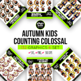 Counting Autumn Kids Clip Arts COLOSSAL Bundle ($18 value)