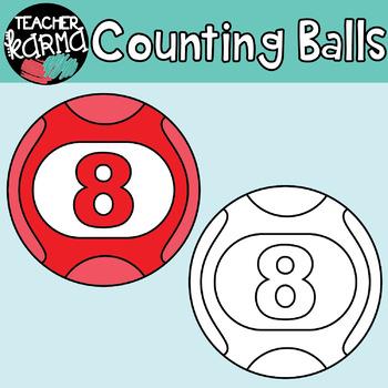Counting / BINGO Balls: MATH CLIPART
