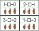 Counting Back 1, 2, 3 Poke Cards and Worksheets