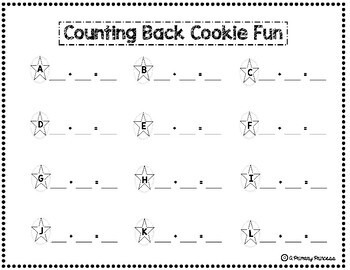 Counting Back Cookie Fun