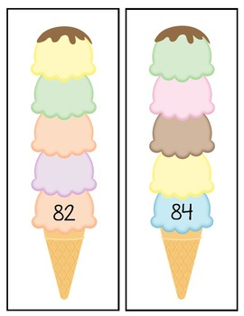 Counting Back Station- Ice Cream Cones