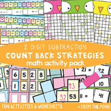 Counting Back Strategy for 2 Digit Numbers - Subtraction Activity Pack