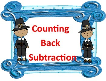 Counting Back Subtraction 1,2,3 Thanksgiving Style
