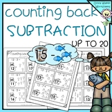 Counting Back - Subtraction Strategy - Subtraction up to 20 (Twenty)