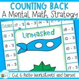 Counting Back Subtraction Strategy Cut & Paste Worksheets and Games