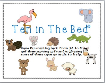 Counting Back and Up with Ten in The Bed