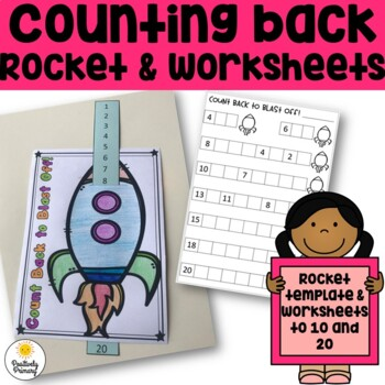 Counting Back to Blast Off - Counting Backwards Rocket and Worksheets