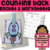 Counting Back to Blast Off - Counting Backwards Rocket & Worksheets