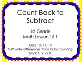 Counting Back to Subtract ACTIVboard Flipchart