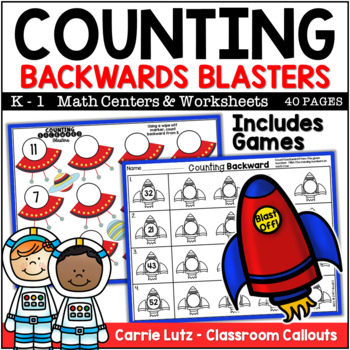 Counting Backward Blasters ~ Fun Activities for Learning to Count Backward