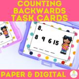 Number Sense SCOOT Task Cards Counting Backward
