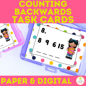 Number Sense SCOOT Task Cards Counting Backward