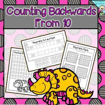 Counting Backwards From 10 Ten To One Kindergarten Worksheets