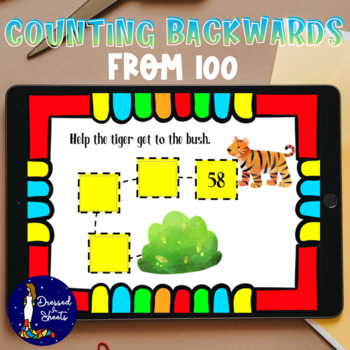 Counting Backwards From 100 Worksheets & Task Cards