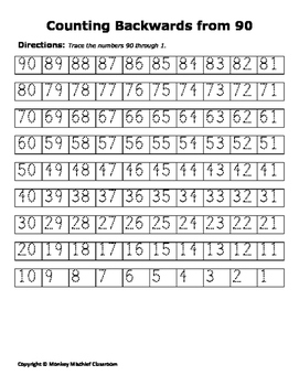 Counting Backwards From 90