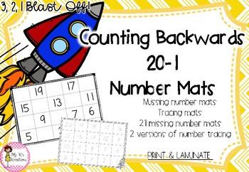 Counting Backwards - Missing Number Mats