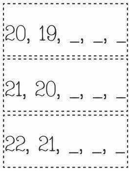 Counting Backwards Set 1