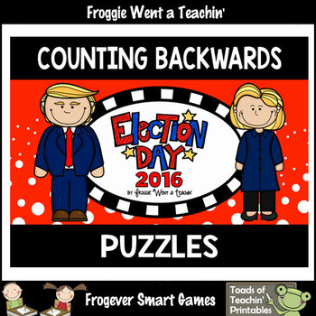 """Counting Backwards by Ones -- """"Election Day 2016"""" Puzzles"""