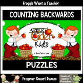 "Counting Backwards by Ones--Number Sequencing Puzzles ""Apple Cider Kids"""