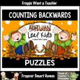 "Counting Backwards by Ones--Number Sequencing Puzzles ""Autumn Leaf Kids"""