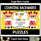 "Counting Backwards by Ones--Number Sequencing Puzzles ""Back to School"""