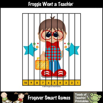"""Counting Backwards by Ones--Number Sequencing Puzzles """"Back to School"""""""