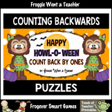 "Counting Backwards by Ones--Number Sequencing Puzzles ""Happy Howl-O-Ween"""