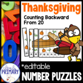 Thanksgiving Number Puzzles: Counting Backward from 20
