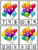 Counting Balloons Clip Cards and Reader 1-12