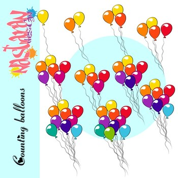Counting Balloons Clipart