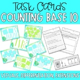 Counting Base Ten Blocks- Task Cards, Visuals, Differentiation