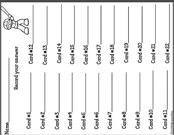 Counting Baseball Tally Marks - Task Cards