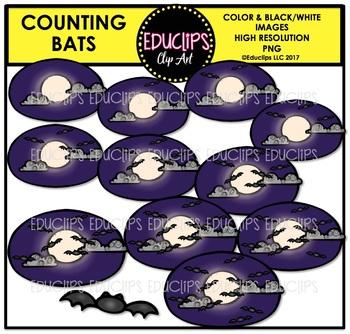 Counting Bats Clip Art Bundle  {Educlips Clipart}