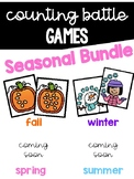 Counting Battle Games Seasonal Bundle {Comparing Numbers to 10}