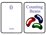 Counting Beans 0 -10 Counting flashcards