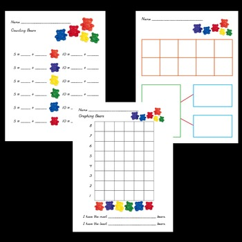 counting bears worksheet