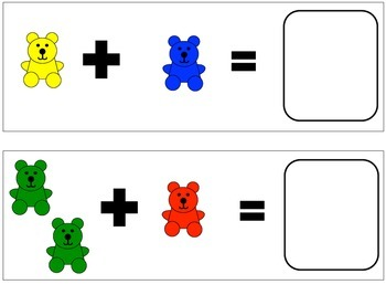 Counting Bear Addition Mats - Sums to 5