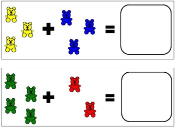 Counting Bear Addition Mats - Sums 6 to 10